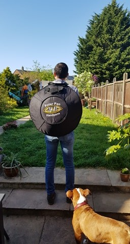 Handpan backpack carry case for hand drum